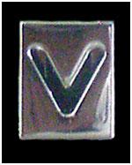Huruf V Box ukuran 8mm